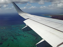 Aerial view of coast of Providenciales Stock Photography