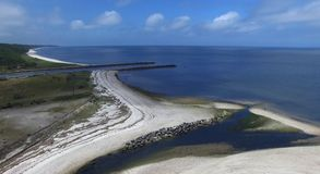 Coastal Shoreline on Long Island 2. Aerial View of Coastal Shoreline on North Shore of Long Island on a Summer Day as Seen by a Drone royalty free stock images