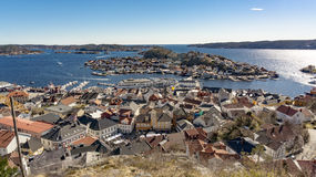 Free Aerial View Coastal Town In Southern Norway Stock Image - 91739061