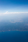 Aerial view of coastline Royalty Free Stock Photos