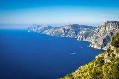 Aerial view of coastline Amalfi, Sorrento peninsula with seaview royalty free stock photography