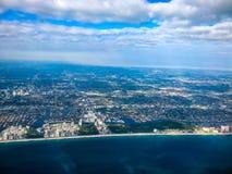 flying over Florida beaches Royalty Free Stock Photos