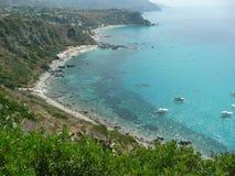 Aerial View of the Coastline at Capo Vaticano on the Tyrrhenian Royalty Free Stock Photo