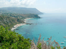 Aerial View of the Coastline at Capo Vaticano on the Tyrrhenian Stock Image