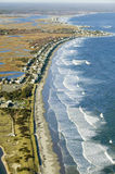 Aerial view of coastline looking from Ogunquit to York, Maine Stock Photo