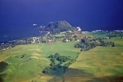 Aerial View of Coastline, Maui, Hawaii Stock Images