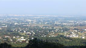 Aerial view of coimbatore. `Manchester of South India`. This snap taken from Maruthamalai Royalty Free Stock Photos
