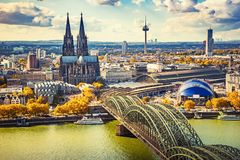 Aerial view of Cologne. Germany Stock Photo