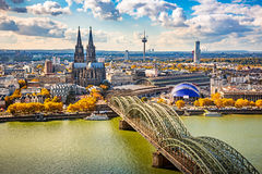 Aerial view of Cologne Royalty Free Stock Photography