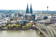 Aerial view Cologne Stock Photography