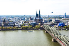 Aerial view Cologne royalty free stock photography