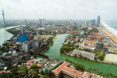 Aerial view of Colombo Royalty Free Stock Photos