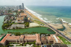 Aerial view of Colombo Royalty Free Stock Images