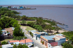 Aerial view of Colonia in Uruguay Royalty Free Stock Images
