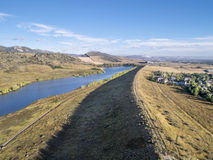 Aerial view of Colorado foothills Stock Image