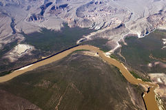 Aerial view of the Colorado River Stock Images