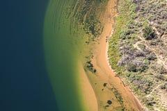 Aerial view of Colorado River. Stock Photos