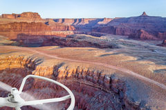 Aerial view of Colorado RIver canyon Stock Photo
