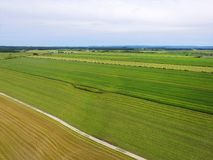 Aerial view of farm fields Stock Images