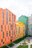 Aerial view on colorful residential buildings Royalty Free Stock Images