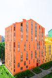 Aerial view on colorful residential buildings. Real estate and housing Stock Photos