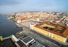Aerial View of Commerce Square in Lisbon, Portugal.  Stock Image