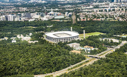 Aerial view of the Commerzbank Arena in Frankfurt Royalty Free Stock Image