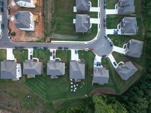Aerial view of condo Cul de Sac in Southern United States Stock Photography