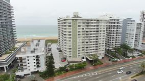 Aerial view from a condominium balcony stock video footage