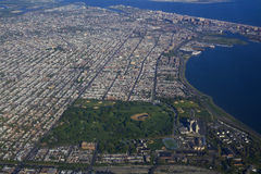 Aerial view of Coney Island New York Royalty Free Stock Image