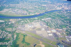 Aerial view of Connecticut river. Landscape at hartford, CT Stock Photos