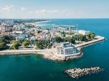 Aerial View Of Constanta City Skyline Of Romania royalty free stock photos