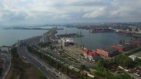 Aerial view of Constanta industrial port, Romania