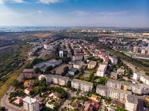 Aerial view of Constanta, town in Romania royalty free stock image