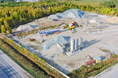 Aerial view on construction materials company Royalty Free Stock Photography