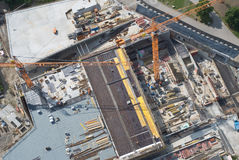 Aerial View of a Construction Site Royalty Free Stock Photo