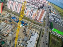 Aerial view on construction site Stock Photos