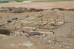 Aerial view of the construction site Royalty Free Stock Photos