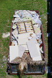 Aerial view of construction trash Royalty Free Stock Photography
