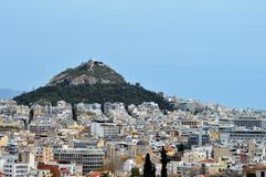 Hillside in Athens, Greece. Aerial view of contemporary architecture in Athens, Greece Royalty Free Stock Images