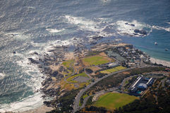 Aerial view on contemporary coastline Stock Photography