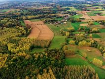 Aerial view contryside landscape. Aerial view of contryside landscape royalty free stock photo
