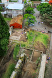 Aerial view of Convent of San Franciso ruins in Colonia del Sacr Stock Photography