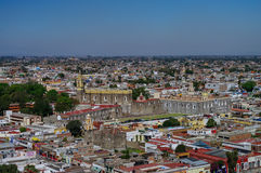Aerial view of Convent of San Gabriel. Cholula, Mexico Stock Images