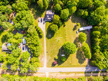 Aerial view of a Cookie Cutter Neighborhood Stock Photos