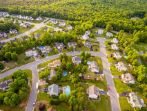 Aerial view of a Cookie Cutter Neighborhood. S Stock Photo