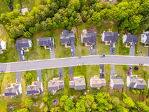 Aerial view of a Cookie Cutter Neighborhood Royalty Free Stock Photography