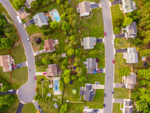 Aerial view of a Cookie Cutter Neighborhood Stock Photo