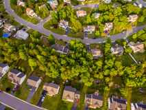 Aerial view of a Cookie Cutter Neighborhood Stock Image