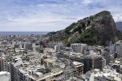 Aerial view of Copacabana Beach Royalty Free Stock Image